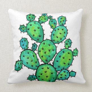 Coussin Cactus épineux d'aquarelle magnifique