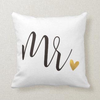 Coussin Cadeau de Mr.|Mr.& Mrs.Wedding