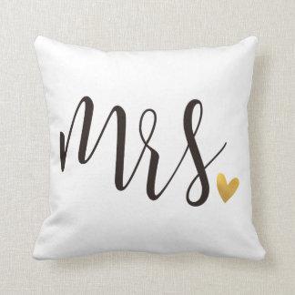 Coussin Cadeau de Mrs.|Mr.& Mrs.Wedding
