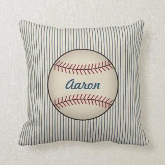Coussin Cadeau nommé de carreau de base-ball de sports