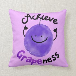 Coussin Calembour positif de raisin - réalisez Grapeness