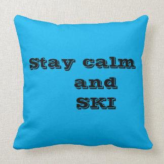Coussin Calme de séjour et carreau de citation de SKI