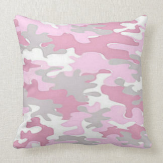Coussin Camoflauge rose