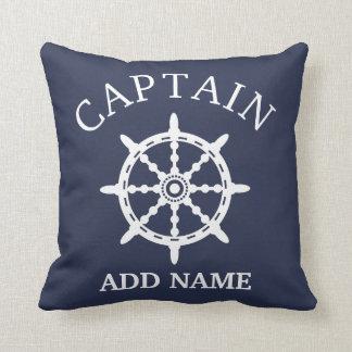Coussin Capitaine de bateau (personnalisez Name de