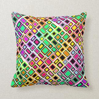Coussin Carré Abstrait Multicolore Joyeux