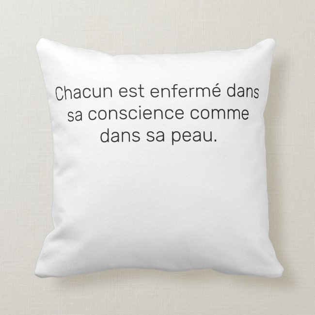 Coussin Carré Citation