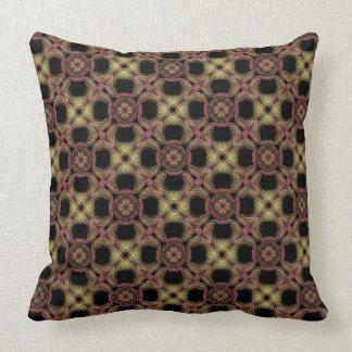 Coussin carré Jimette Design brun orange jaune
