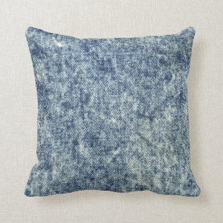 Coussin Carreau acide de blue-jean de lavage