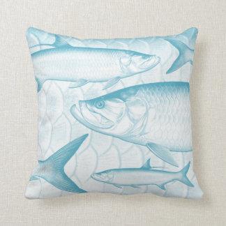 Coussin Carreau atlantique bleu de tarpon d'Aqua