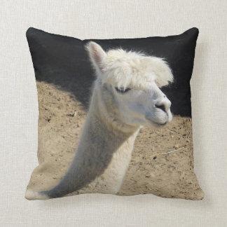 Coussin Carreau avec le portrait de lama