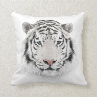 Coussin Carreau blanc de tête de tigre