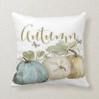Coussin Carreau bleu de citrouille d'automne