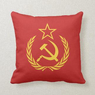 Coussin Carreau communiste de drapeau de guerre froide