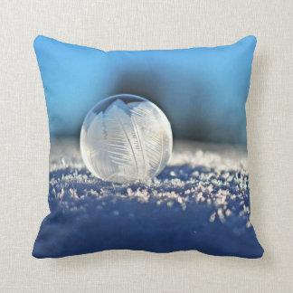 Coussin Carreau congelé de bulle d'hiver