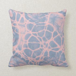 Coussin Carreau de bleu de sérénité de quartz rose