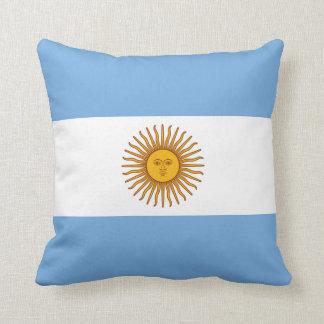 Coussin Carreau de drapeau de l'Argentine