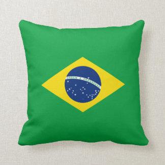 Coussin Carreau de drapeau du Brésil
