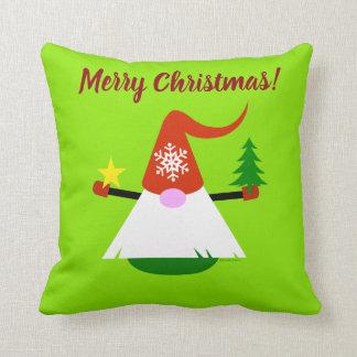 Coussin Carreau de gnome de Noël