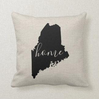 Coussin Carreau de l'État d'origine du Maine