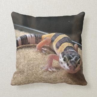 Coussin Carreau de lézard de Gecko de léopard