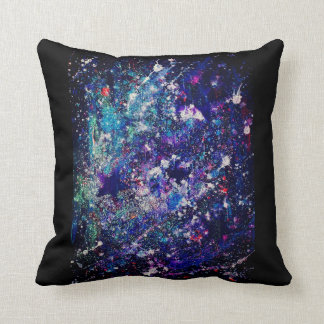 Coussin Carreau de parties scintillantes de galaxie