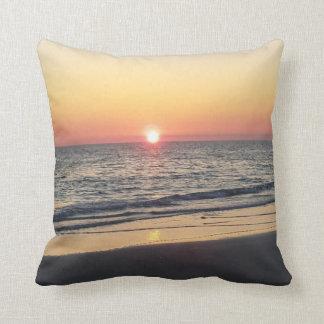 Coussin Carreau de plage de coucher du soleil