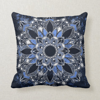 Coussin Carreau de polyester de mandala