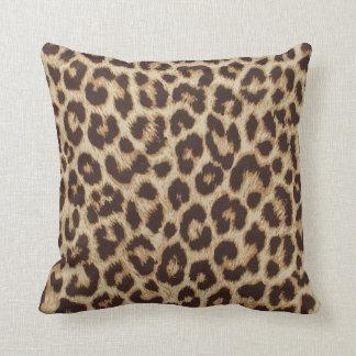 Coussin Carreau de polyester d'empreinte de léopard
