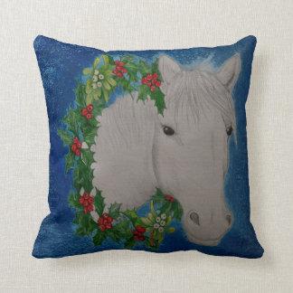 Coussin Carreau de poney de guirlande de Noël