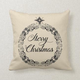 Coussin Carreau décoratif de guirlande de Joyeux Noël