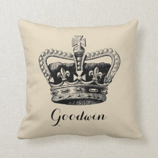 Coussin Carreau décoratif personnalisé de couronne