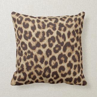 Coussin Carreau d'empreinte de léopard