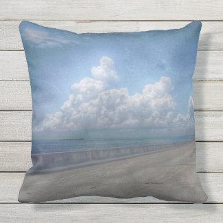 Seven mile bridge print throw pillow