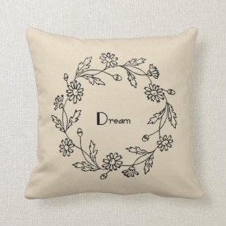 Coussin Carreau floral rêveur de ferme de guirlande