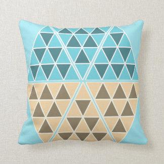 Coussin Carreau génial et frais de triangles/pyramides