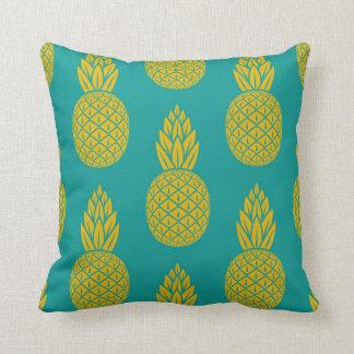 Coussin Carreau hawaïen tropical de motif d'ananas