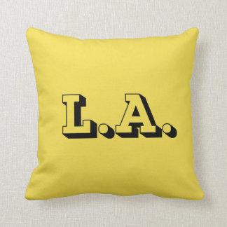 Coussin Carreau L.A. Los Angeles 3D