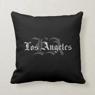Coussin Carreau Los Angeles Blackletters