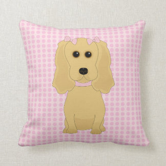 Coussin Carreau lunatique d'art de chien de cocker