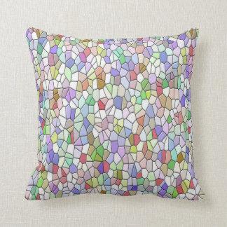 Coussin Carreau multicolore de mosaïque