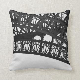 Coussin Carreau noir et blanc de voûte de Tour Eiffel