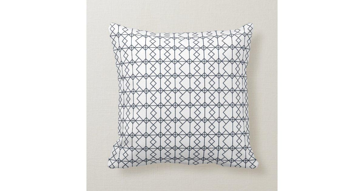 coussin carreau noir et blanc moderne et graphique. Black Bedroom Furniture Sets. Home Design Ideas