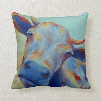 Coussin Carreau original de vache à beaux-arts de