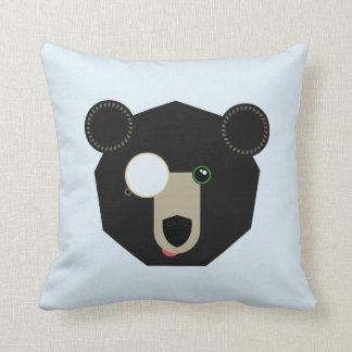 Coussin Carreau - ours de monocle - géométrique