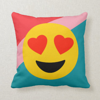 Coussin Carreau rayé d'amour d'Emoji