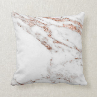 Coussin Carreau rose de veine d'or