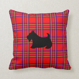 Coussin Carreau rouge de chien de Terrier Scotty