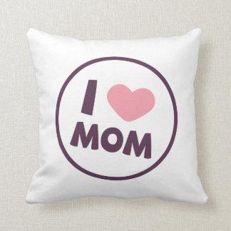 Coussin Carreau simple du jour de mère de maman d'amour
