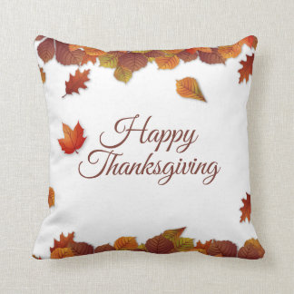 Coussin Carreau simple du thanksgiving   de feuille