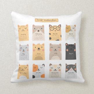 Coussin Carreau simple et mignon du calendrier   des chats